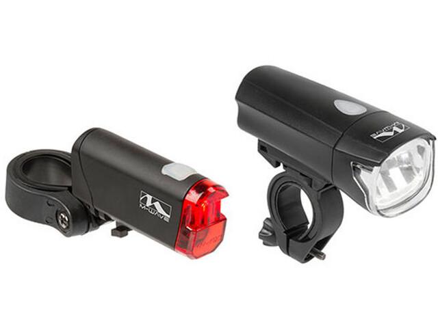 M-Wave Atlas K50 - Juego de luces para bicicleta - negro